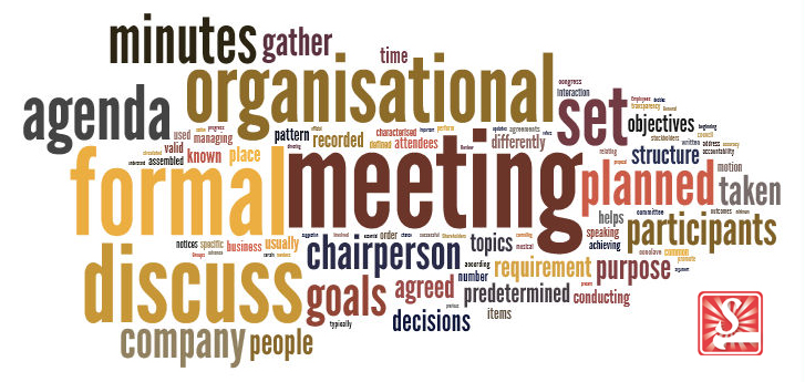 formal meeting wordcloud