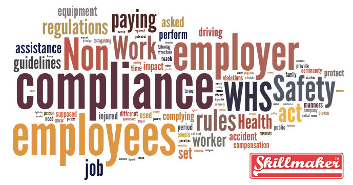 non compliance with whs word cloud
