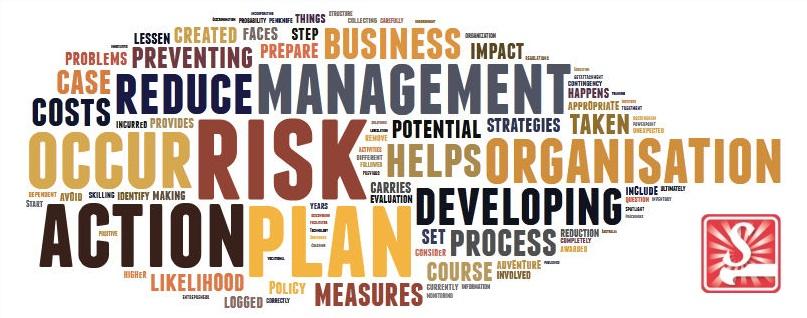 Risk action plan - wordcloud